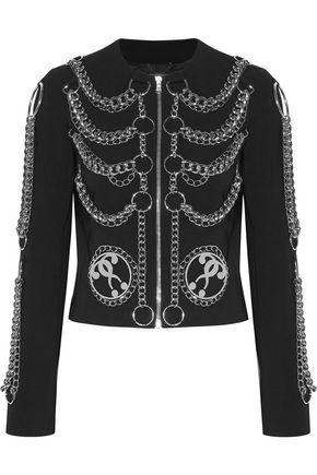 MOSCHINO Embellished crepe jacket