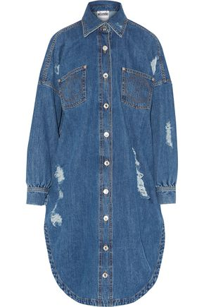 MOSCHINO Distressed denim dress