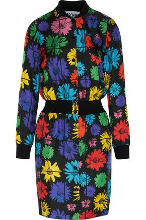 MOSCHINO Floral-print silk-satin twill dress