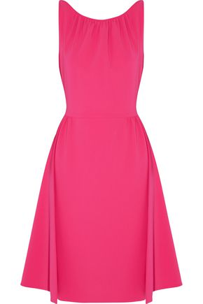 MOSCHINO Gathered crepe dress