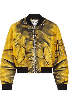 MOSCHINO Printed gabardine bomber jacket