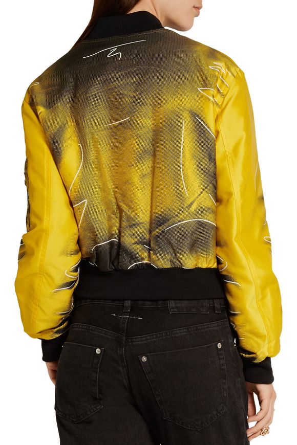 Printed gabardine bomber jacket | MOSCHINO | Sale up to 70% off | THE OUTNET