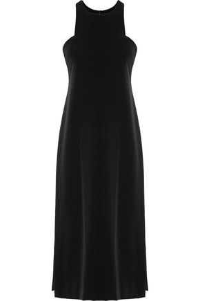 MILLY Stretch-cady midi dress