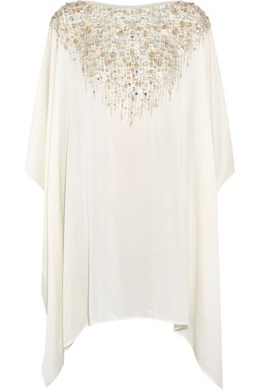 AMANDA WAKELEY Embellished silk tunic