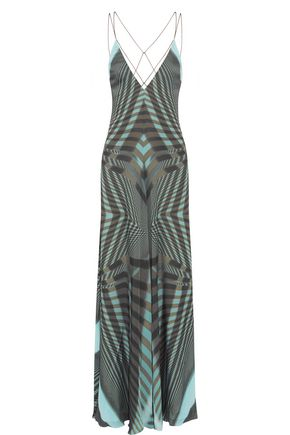 AMANDA WAKELEY Printed silk gown
