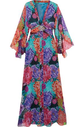 MATTHEW WILLIAMSON ESCAPE Miyazaki Mirage crystal-embellished silk gown