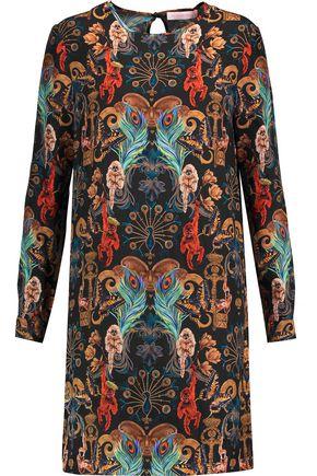 MATTHEW WILLIAMSON Regal Monkey printed silk mini dress