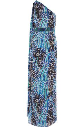 MATTHEW WILLIAMSON Akita one-shoulder printed silk gown