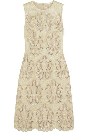 ERDEM Embroidered cutout Lurex dress