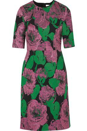 ERDEM Ivy metallic jacquard dress