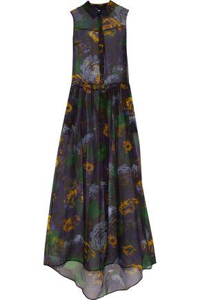 ERDEM Floral-print silk-organza gown