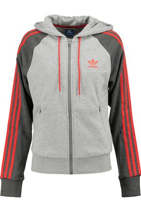 ADIDAS ORIGINALS Girly Z cotton-blend jersey hooded jacket