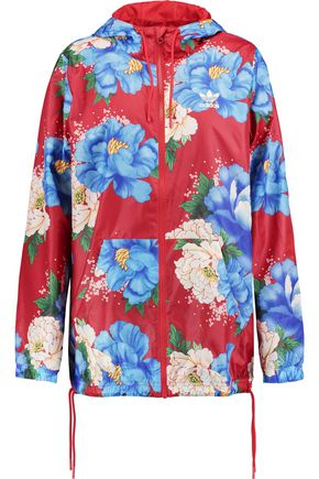 ADIDAS ORIGINALS Hooded floral-print shell jacket