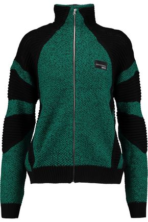 ADIDAS ORIGINALS Two-tone knitted cotton jacket