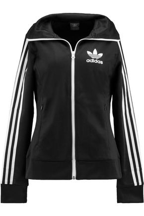 ADIDAS ORIGINALS Europa stripe-trimmed cotton-blend shell jacket