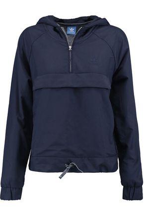 ADIDAS ORIGINALS Jersey-trimmed shell hooded jacket
