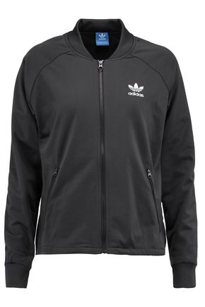 ADIDAS ORIGINALS Pleated stretch-jersey and satin jacket