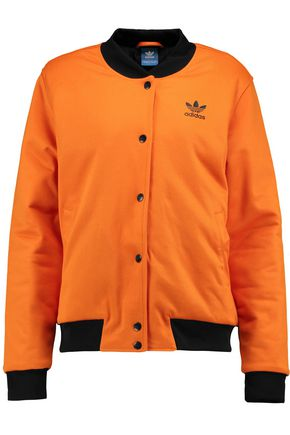 ADIDAS ORIGINALS Cotton-blend piqué bomber jacket