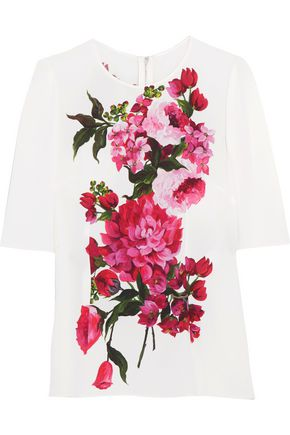 DOLCE & GABBANA Printed crepe blouse
