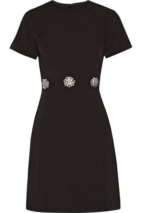 MICHAEL MICHAEL KORS Crystal-embellished stretch-crepe mini dress