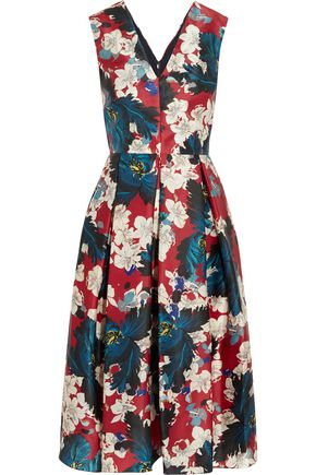 ERDEM Loren printed silk-gazar dress