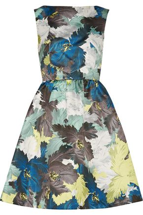 ERDEM Kenya printed duchesse-satin mini dress