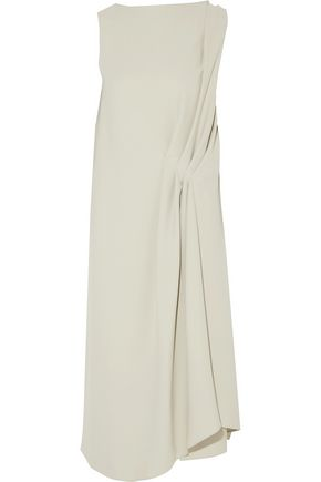 MAISON MARGIELA Draped gathered crepe dress