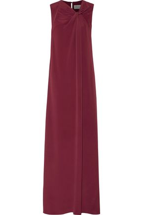 MAISON MARGIELA Knotted crepe maxi dress