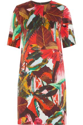 ERDEM Temae printed washed-silk mini dress