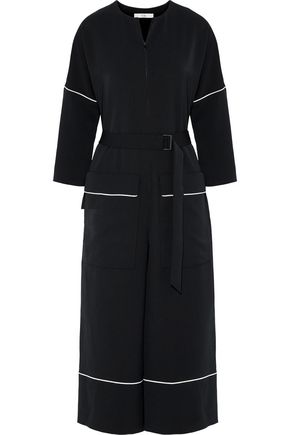 TIBI Belted canvas jumpsuit