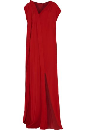 CHALAYAN Judo draped crepe maxi dress