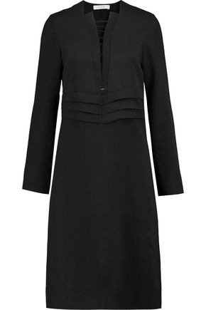 IRO Lace-up crepe dress