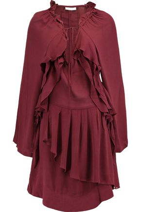 IRO Ruffled broadcloth dress