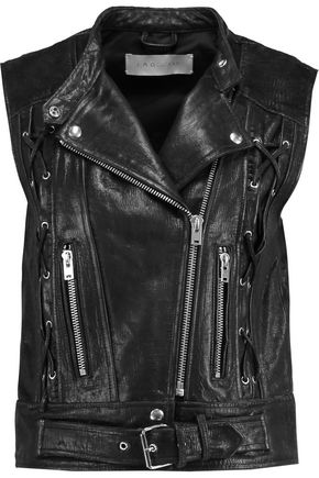 IRO Textured-leather gilet