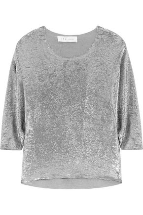 IRO Sequined mesh top