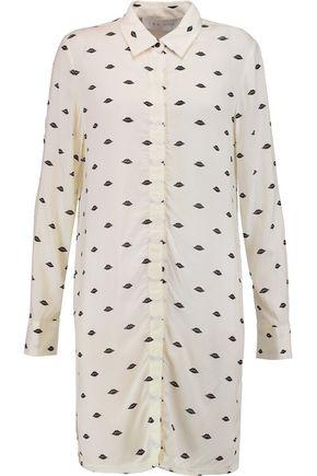IRO Printed voile mini shirt dress