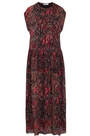 IRO Printed faille maxi dress