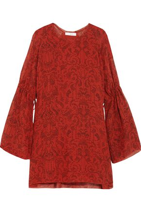 IRO Printed chiffon mini dress