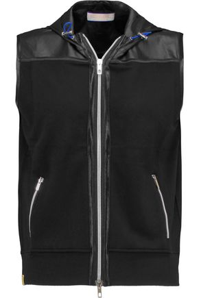 MONREAL LONDON Hooded stretch-jersey gilet