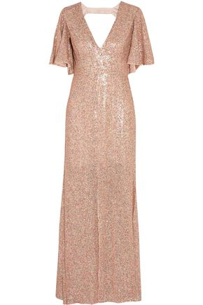 TEMPERLEY LONDON Open-backed sequined gown