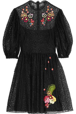 TEMPERLEY LONDON Leo embroidered corded lace dress