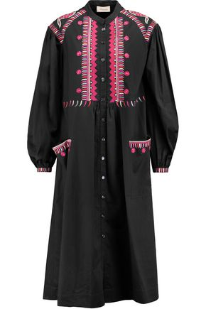 TEMPERLEY LONDON Fable embroidered cotton midi dress