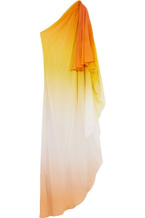 TEMPERLEY LONDON Miracle asymmetric draped silk-chiffon gown