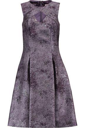 MIKAEL AGHAL Cutout jacquard dress