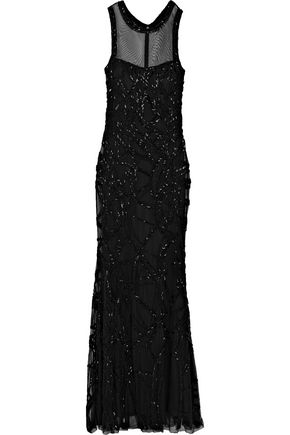 MIKAEL AGHAL Sequin-embellished tulle gown