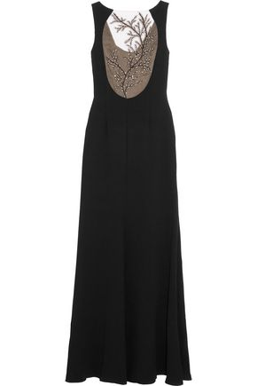 MIKAEL AGHAL Embellished crepe gown