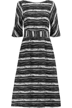 GOAT Striped cotton-canvas midi dress