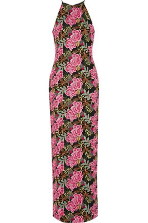 BADGLEY MISCHKA Embroidered cady gown