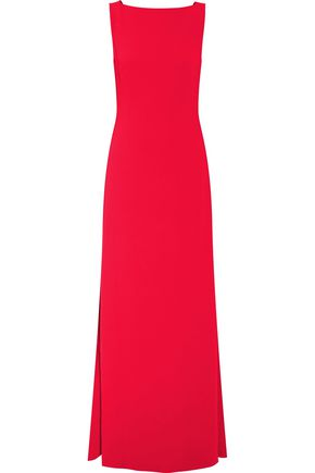 OSMAN Charlize tie-back crepe gown