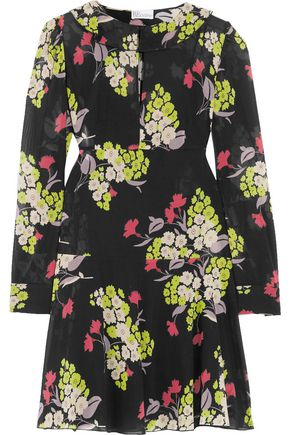 REDValentino Floral-print voile mini dress